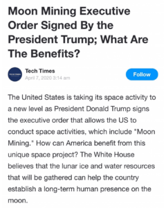 Moon Mining Executive Order Signed By the President Trump; What Are The Benefits?