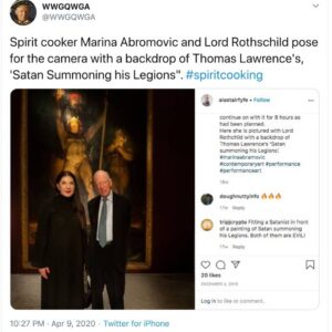 CONNECTED: Lord Rothschild & Spirit Cooker Marina Abromovic