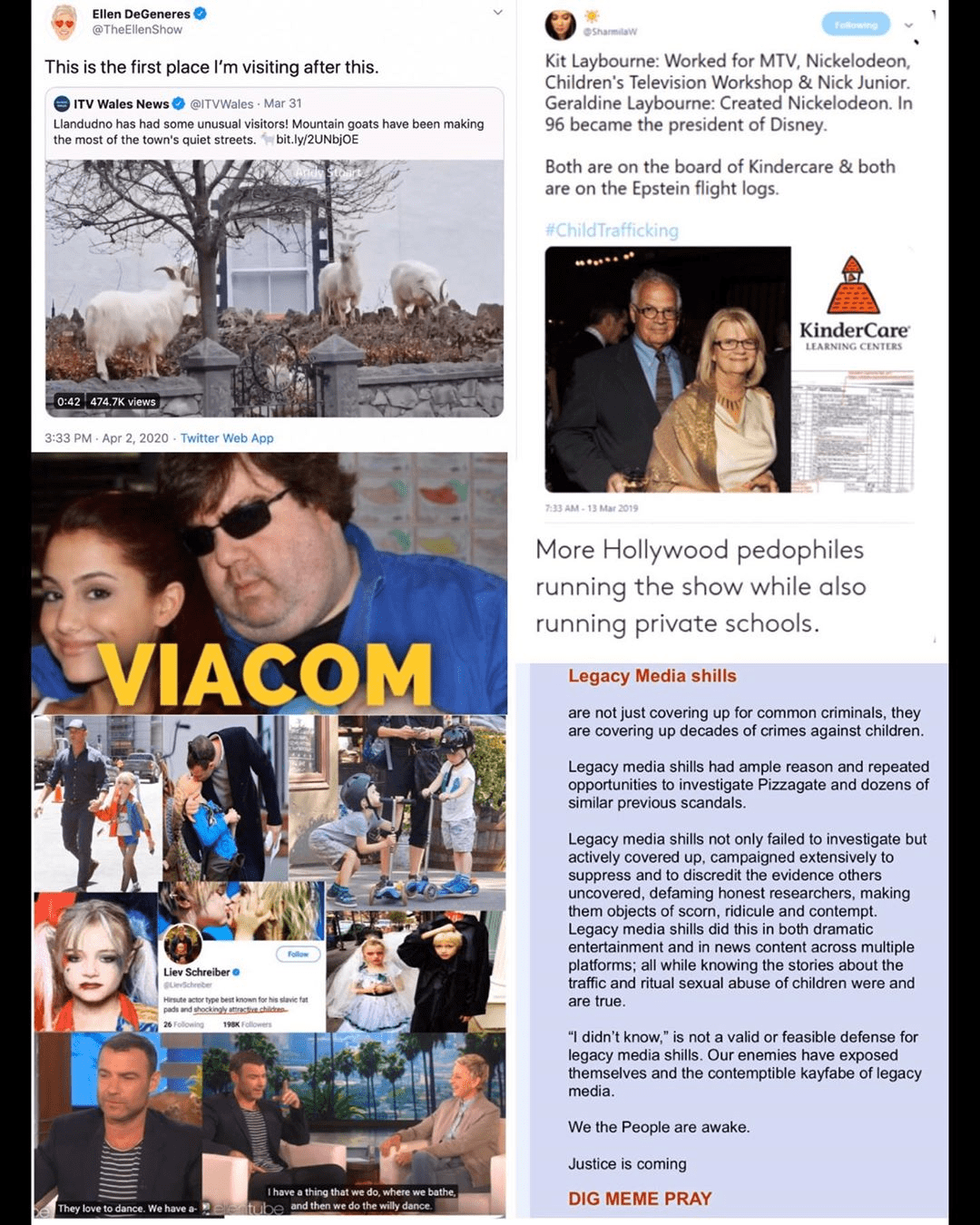 Ellen DeGeneres, Liev Schreiber, Kit Laybourne, and Geraldine Laybourne Involved In Pedophilia? – Pedophile Rings & Satanism Are Rampant In Hollywood Elite Circles