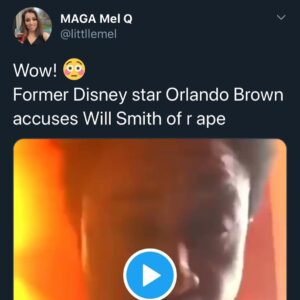 Former Disney Star Orlando Brown Accuses Will Smith Of Rape