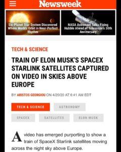 TRAIN OF ELON MUSK'S SPACEX STARLINK SATELLITES CAPTURED ON VIDEO IN SKIES ABOVE EUROPE