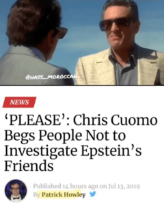 'PLEASE': CNN's Chris Cuomo Begs People Not to Investigate Epstein's Friends