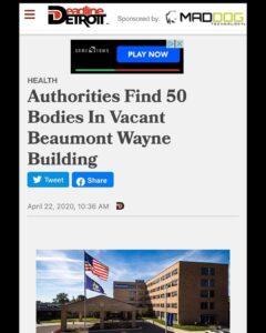Authorities Find 50 Bodies In Vacant Beaumont Wayne Building
