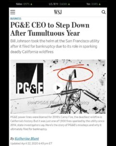 PG&E CEO to Step Down After Tumultuos Year