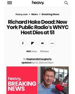 Richard Hake Dead: New York Public Radio's WNYC Host Dies at 51