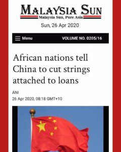 African nations tell China to cut strings attached to loans