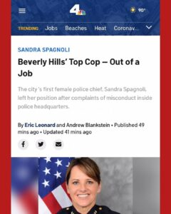 "Beverly Hills' Top Cop Out of a Job Amid Complaints of Misconduct ""racial slurs"""