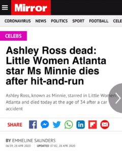 Ashley Ross Dead: Little Women Atlanta Star Ms Minnie Dies After Hit-and-Run