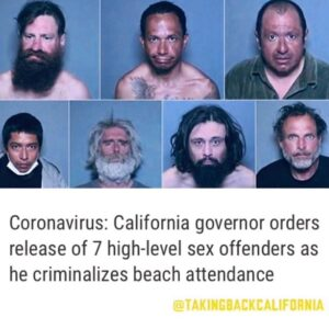 Coronavirus: California governor orders release of 7 high-level sex offenders as he criminalizes beach attendance