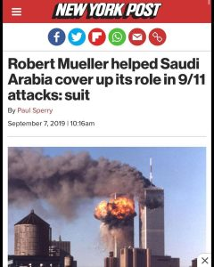 Robert Mueller helped Saudi Arabia cover up its role in 9/11 attacks