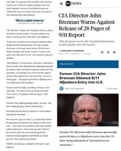 Former CIA Director JohnBrennan Allowed 9/11Hijackers Entry Into US