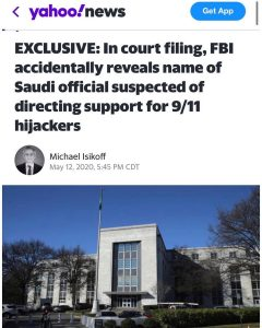 In court filing, FBI accidentally reveals name of Saudi official suspected of directing support for 9/11 hijackers