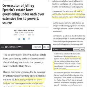 Co-executor of Jeffrey Epstein's estate faces questioning under oath over extens