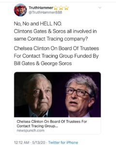 Clintons Gates & Soros all involved in same Contact Tracing company?
