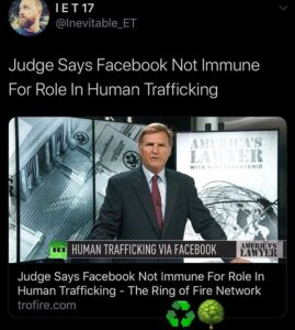 Judge Says Facebook Not Immune For Role In Human Trafficking