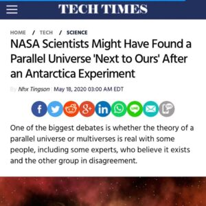 NASA Scientists Might Have Found a Parallel Universe 'Next to Ours' After an Antarctica Experiment – – One of the bigges…