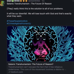 Read more about the article Satanic Transhumanism: The Future of Reason? – – [They] really think this is the solution to all of our problems. It wil…