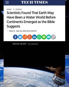 Scientists Found That Earth May Have Been a Water World Before Continents Emerged as the Bible Suggests