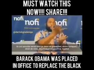 Read more about the article Obama Was Placed In Office To Replace The Black