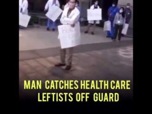 Man Catches Health Care Leftists Off Gaurd