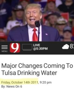 Major Changes Coming To Tulsa Drinking Water – Oct. 14th 2011TULSA, Oklahoma -…