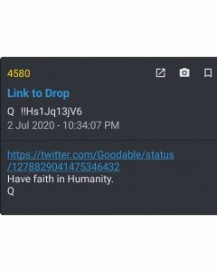 Read more about the article ——————————————————————– #QAnon #wwg…