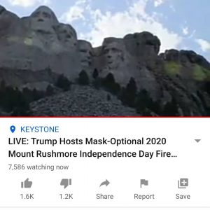 Search Youtube Keywords: Trump/ Rushmore/ Live Its about to begin…