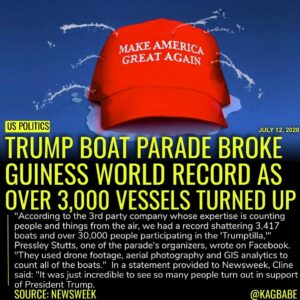 New World Record Boat Parade – Columbia, SC (Lake Murray) Trump Rally on the Wat…