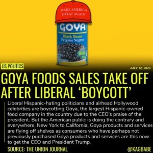 Goya Foods CEO Bob Unanue said on Friday he is not surrendering to a boycott ove…
