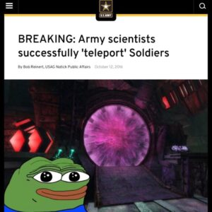 Wait you didn't hear about this one?!Army scientists successfully 'teleport' S…