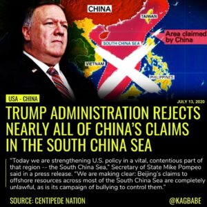 The Trump administration on Monday rejected nearly all of China's claims in the …