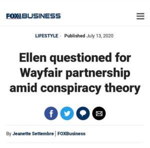 Ellen questioned for Wayfair partnership amid conspiracy theoryEllen DeGeneres…