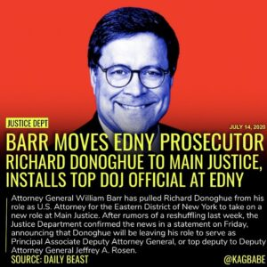 Donoghue, seen as close to Barr, was tasked with supervising all DOJ investigati…