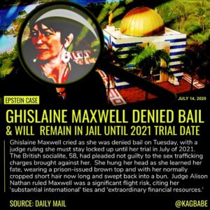 Ghislaine Maxwell cried as she was denied bail on Tuesday and learned she must s…