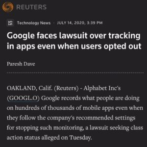 The data privacy lawsuit is the second filed in as many months against Google by…