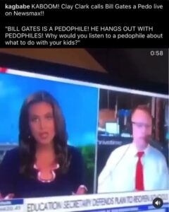 Clay Clark calls Bill Gates a Pedophile on Live on T.V.