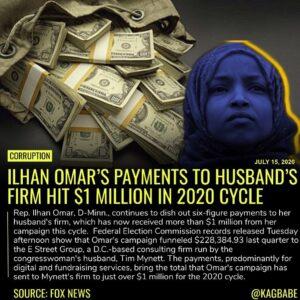 Omar, a freshmen congresswoman, has faced scrutiny over numerous financial and p…