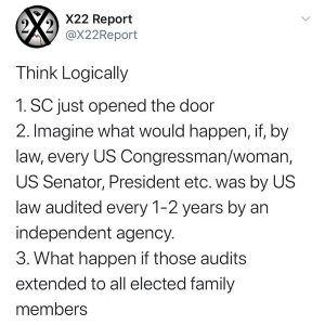 I listen to the X22 Report on You Tube daily. He helps make sense of the chaos. …