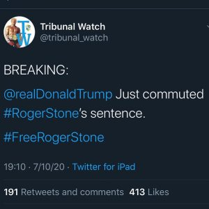Read more about the article GREAT NEWS!! @realdonaldtrump #freerogerstone  (In other news, pedophiles are ru…