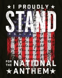 I stand for America and bow on #bendedknee to my God. MAGA…