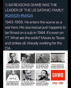 Post 1 of 3: The Bush Crime Family SyndicateThis post comes from the account