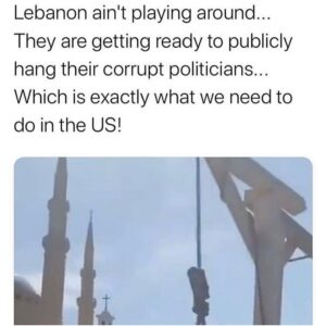 Lebanon ain't playing around… They are getting ready to publicly hang their co
