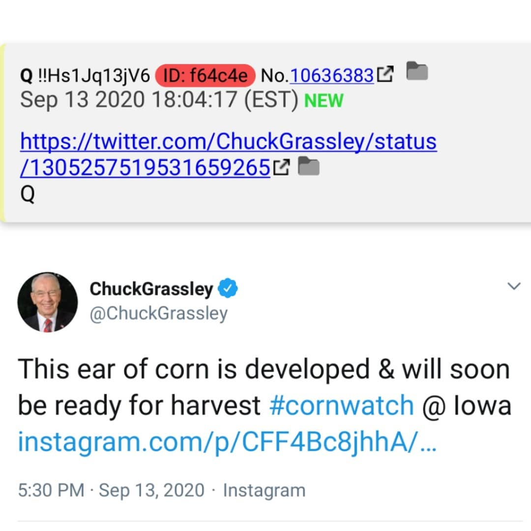 Someone was just giving me shit over Grassley's Corn watch. Ignorant ass people