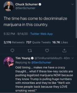 That's exactly why.  Side note, it really should be decriminalized in my opinion