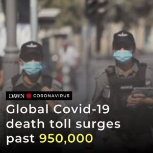 — The global Covid-19 death toll has risen to over 951,000, according to the