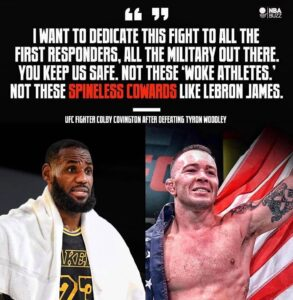 Read more about the article — UFC star Colby Covington called out LeBron James on National TV! Well don