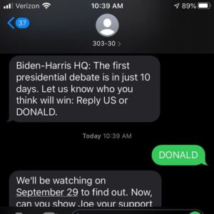 Yep, I signed up to get Biden alerts. I don't recommend it. Very boring and sleepy