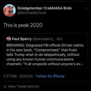 OH GOD OH FUGG TELEPATHIC RUSSIAN COLLUSION