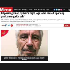 — the Sun / the Mirror both reporting that every name on all Epstein flight