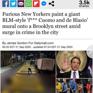 Furious New Yorkers painted Cuomo…
